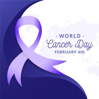 Kleurovergang wereld kanker dag lint