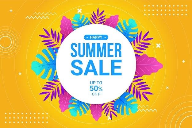 Kleurovergang zomer verkoop illustratie