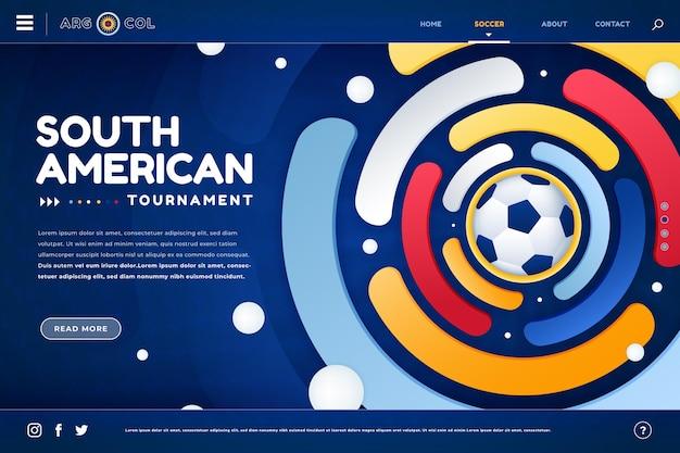 Kleurovergang zuid-amerikaanse voetbal bestemmingspagina