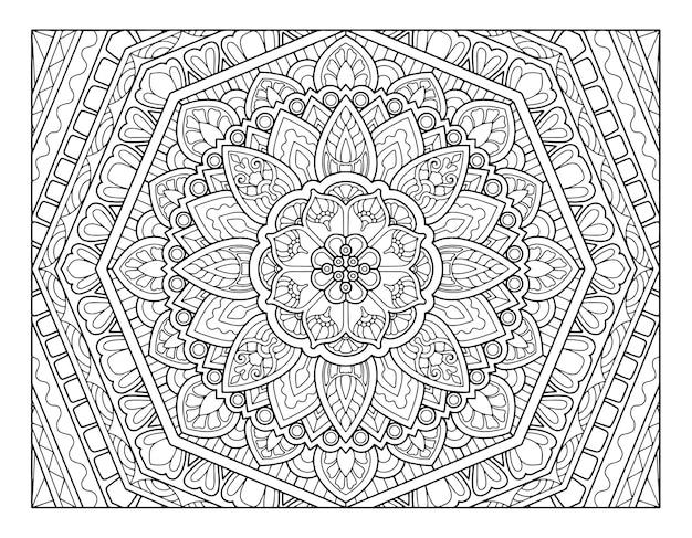 Kleurplaat mandala ontwerp