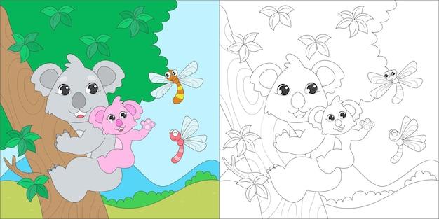 Kleurplaat met koala