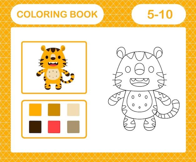 Kleurplaat van schattige tijger
