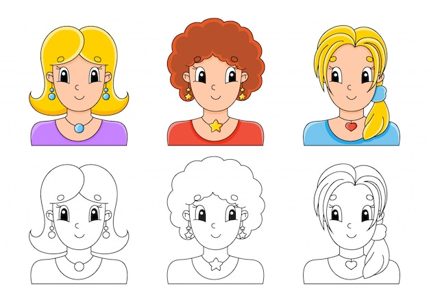 Kleurplaat voor kinderen instellen.