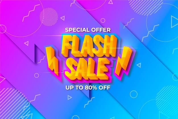 Kleurrijk 3d spromotional verkoopthema als achtergrond