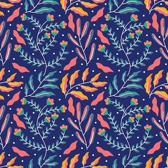 Kleurrijk aard naadloos patroon