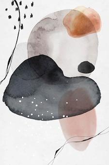 Kleurrijk abstract aquarel cirkels ontwerp