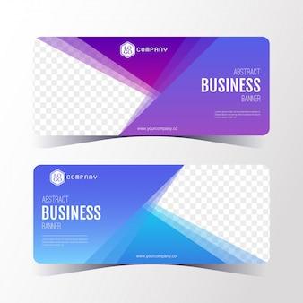 Kleurrijk abstract bedrijfsbannermalplaatje, horizontale geplaatste bannerkaarten.