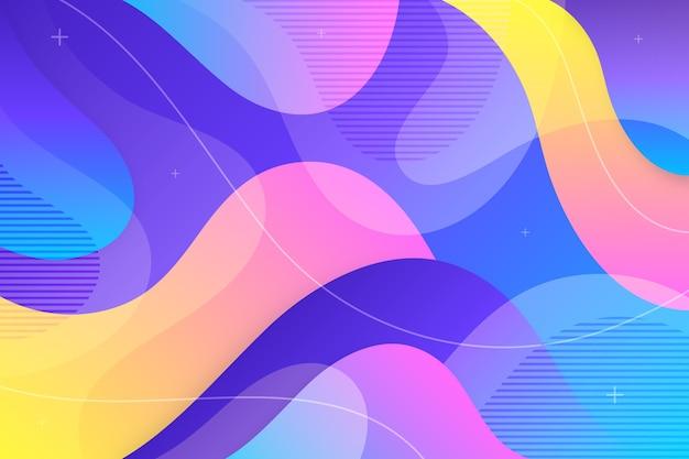 Kleurrijk abstract behangontwerp