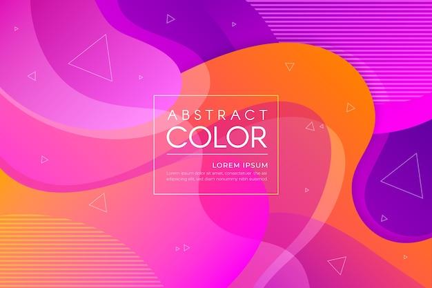Kleurrijk abstract behangthema
