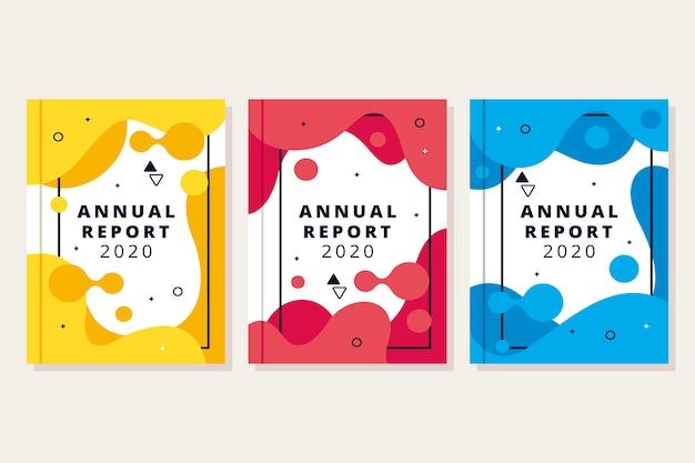 Kleurrijk abstract jaarverslagmalplaatje