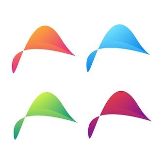 Kleurrijk abstract symbool voor uw bedrijf