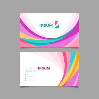 Kleurrijk abstract visitekaartje met creatieve vormen