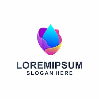 Kleurrijk abstract vloeibaar logo