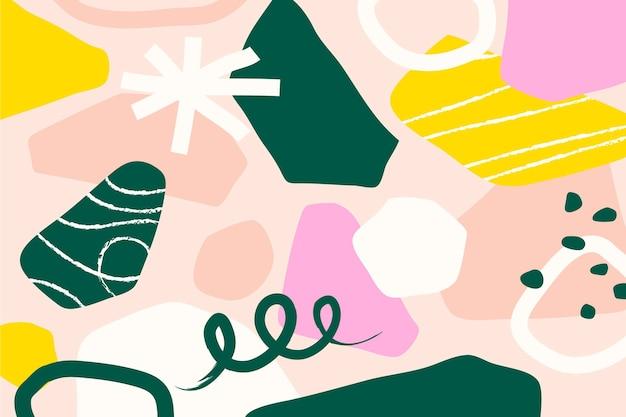 Kleurrijk abstract vormenbehang