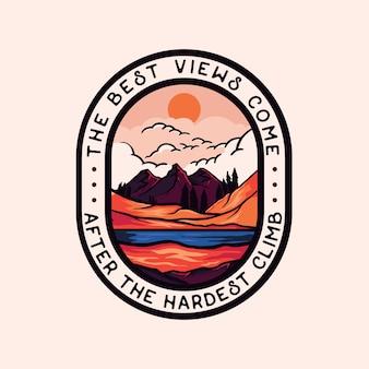 Kleurrijk adventure badge-logo