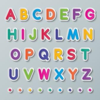 Kleurrijk alfabet