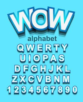 Kleurrijk alphapet-lettertype voor kinderfeestjesuitnodiging