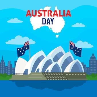 Kleurrijk australië dagconcept