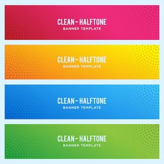 Kleurrijk bannermalplaatje met halftone