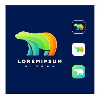 Kleurrijk beer-logo