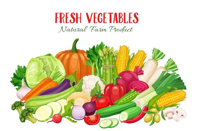 Kleurrijk biologisch met groenten.