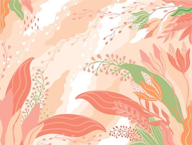 Kleurrijk bladerenpatroon