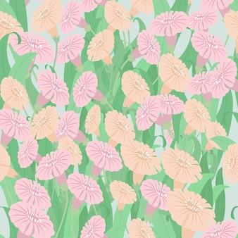 Kleurrijk bloem en bladpatroon.