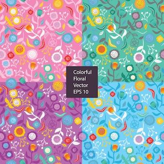 Kleurrijk bloem naadloos patroon
