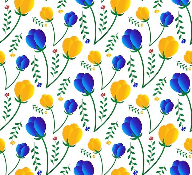 Kleurrijk bloemen naadloos patroon