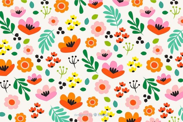 Kleurrijk bloemen vlak ontwerp als achtergrond