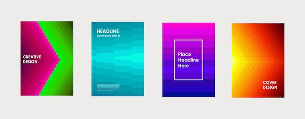 Kleurrijk boekomslagontwerp poster corporate business jaarverslag brochure tijdschrift flyer mockup