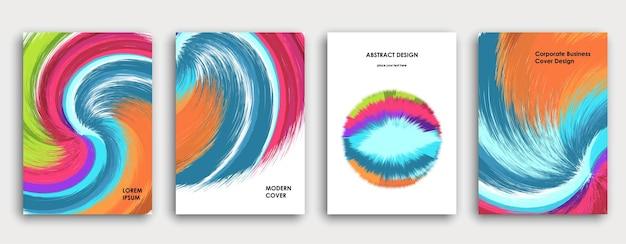 Kleurrijk boekomslagpaginaontwerp. abstracte achtergrond. verf explosie. poster, bedrijfsjaarverslag, a4-brochure, creatief tijdschriftmodel. heldere penseelstreken. veelkleurige vector.