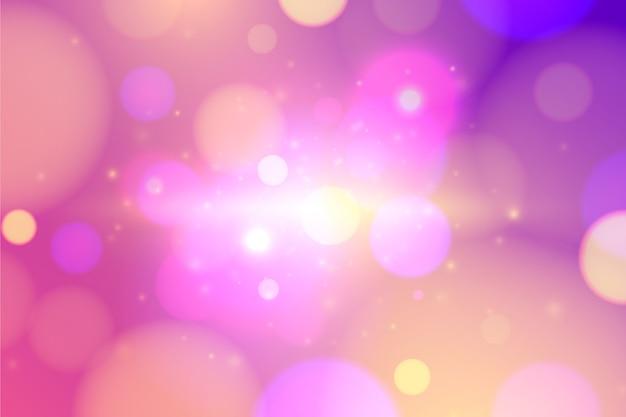 Kleurrijk bokeh effect behang