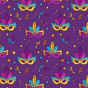 Kleurrijk braziliaans carnaval-patroon