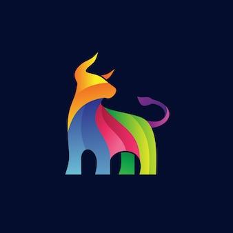 Kleurrijk buffalo-logo