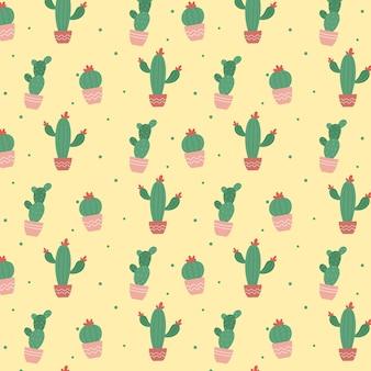 Kleurrijk cactus plant patroon