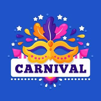 Kleurrijk carnaval in plat ontwerp