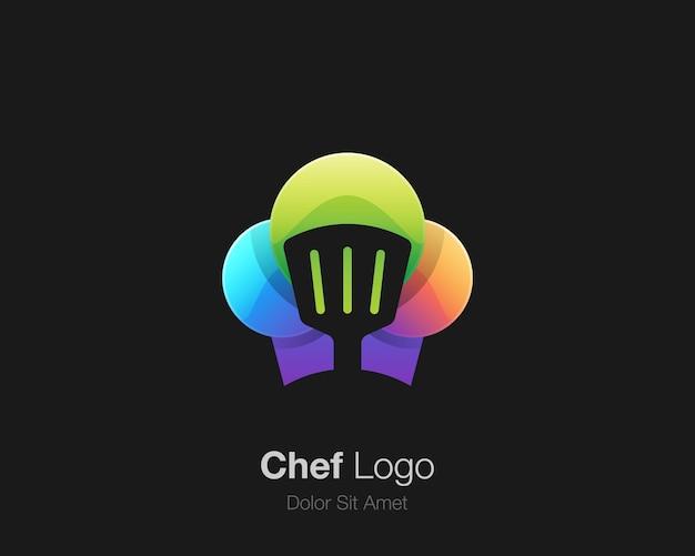 Kleurrijk chef-kokembleem