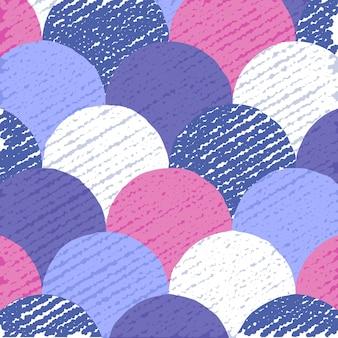 Kleurrijk cirkelspatroon, abstracte vlakke achtergrond, creatieve achtergrond met grungetextuur, illustratie