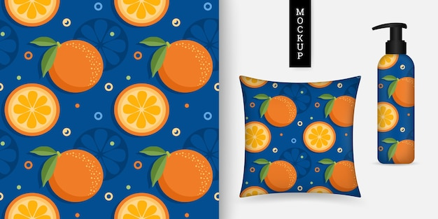Kleurrijk citrus naadloos patroon