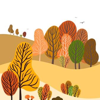 Kleurrijk de herfstlandschap