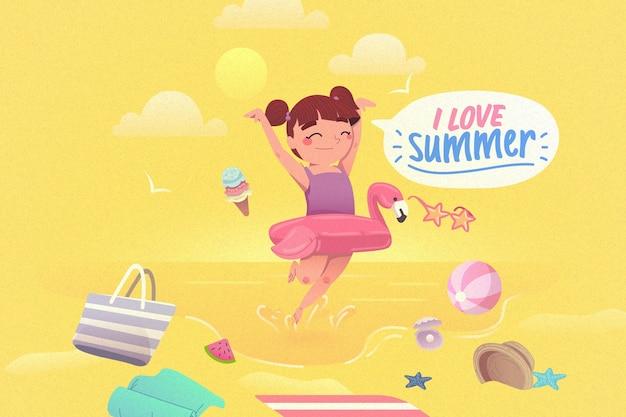 Kleurrijk de zomerconcept als achtergrond