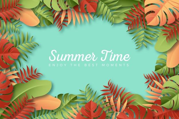 Kleurrijk de zomerthema als achtergrond