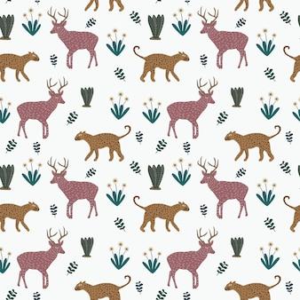 Kleurrijk dierlijk naadloos patroon