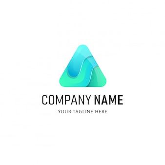 Kleurrijk driehoek logo ontwerp. abstracte logo illsutration