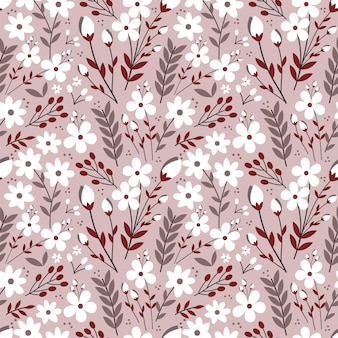 Kleurrijk dusty flower seamless pattern