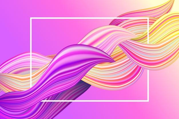 Kleurrijk dynamisch stroombehang