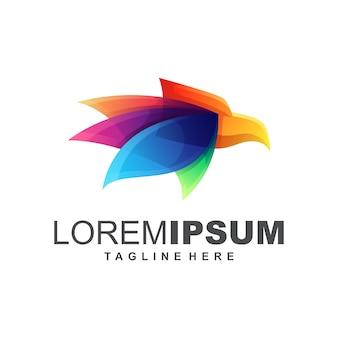 Kleurrijk eagle logo design vector