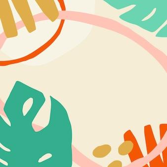 Kleurrijk en leuk tropisch patroon badge vector