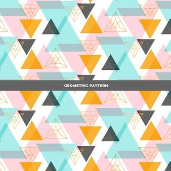 Kleurrijk en modern driehoekspatroonontwerp Gratis Vector